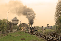Escena en el ferrocarril Fotografía de archivo libre de regalías