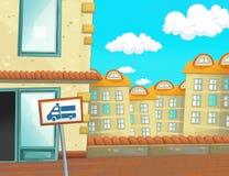 Escena en la ciudad - fondo de la historieta