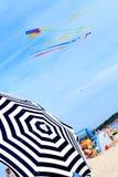 Escena en la playa Fotografía de archivo libre de regalías