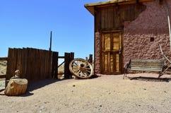Escena en pueblo fantasma del calicó Fotos de archivo