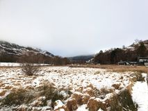 Escena escocesa del paisaje en el viaducto de Glenfinnan imagen de archivo libre de regalías