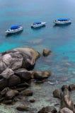 Escena espectacular de las islas de Similan Fotografía de archivo