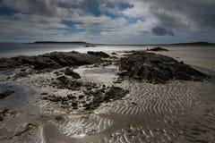 Escena externa de la playa de Hebrides foto de archivo libre de regalías