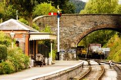 Escena ferroviaria Foto de archivo libre de regalías
