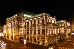 Teatro de la ópera de Wien Imagenes de archivo