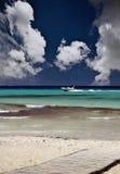 Escena hermosa de la playa Fotos de archivo libres de regalías