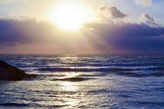 Escena hermosa de la puesta del sol Foto de archivo libre de regalías