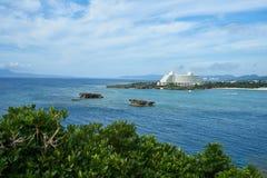 Escena hermosa del mar en Okinawa Foto de archivo
