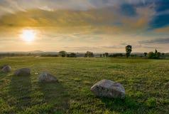 Escena hermosa del sol Imagenes de archivo