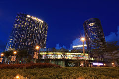 Escena hermosa en Macau en la oscuridad Imágenes de archivo libres de regalías