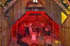 Escena-Hersbruck de la natividad de la Navidad, Alemania foto de archivo libre de regalías