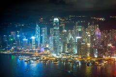 Escena Hong-Kong de la noche Fotografía de archivo libre de regalías
