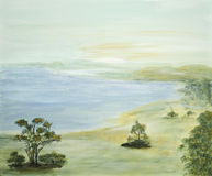 Escena idílica con el lago Imagen de archivo