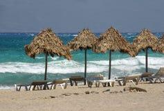 Escena idílica de la playa Fotos de archivo