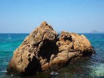 Escena ideal, playa hermosa Opinión de la naturaleza del verano Foto de archivo libre de regalías