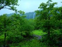 Escena-Ii india vibrante de la monzón fotografía de archivo