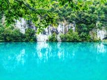 Escena impresionante del lago Plitvice, parque nacional de Croacia Enumerado en patrimonio mundial de la UNESCO Imágenes de archivo libres de regalías