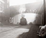 Escena industrial de la edad Fotografía de archivo