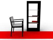 Escena interior - aislada en blanco Stock de ilustración