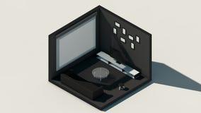 Escena isométrica, sitio de la representación 3d, representación asombrosa ilustración del vector