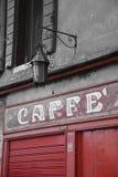 Escena italiana del café, comida Europa del café Foto de archivo libre de regalías