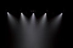 Escena, luz de la etapa con los proyectores coloreados stock de ilustración