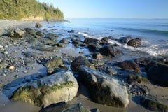 Escena mística de la playa Imagenes de archivo