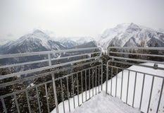 Escena Mayrhofen Austria del invierno Fotos de archivo