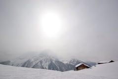 Escena Mayrhofen Austria del invierno Fotos de archivo libres de regalías