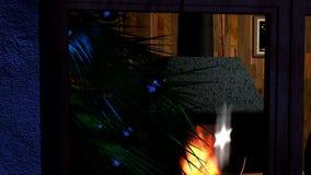 Escena Nevado stock de ilustración