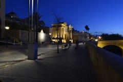 Escena nocturna de la Ribera cordobesa. Stock Photo