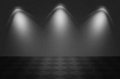 Escena o fondo negra de la textura Imagen de archivo