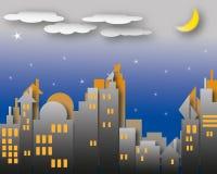 Escena oscura de la noche Foto de archivo libre de regalías