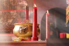 Escena pacífica del templo chino Imagen de archivo libre de regalías