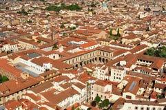 Escena panorámica de tejados, Italia de Florencia Fotos de archivo