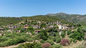 Escena panorámica del pueblo histórico de Doganbey en la ciudad de Aydin Imagen de archivo libre de regalías
