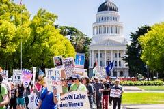 Escena a partir del marzo para la ciencia 2018 que ocurre en Sacramento, California Foto de archivo libre de regalías