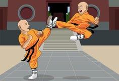 Escena pt.1 del duelo Imagenes de archivo