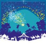 Escena religiosa de la natividad de la Navidad stock de ilustración