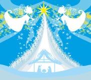 Escena religiosa de la natividad de la Navidad ilustración del vector