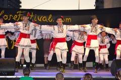 Escena rumana de baile de los muchachos Imagen de archivo libre de regalías