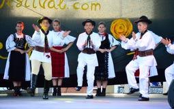 Escena rumana de baile de los muchachos Imágenes de archivo libres de regalías