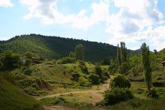 Escena rural de la montaña del alto contraste Fotos de archivo libres de regalías
