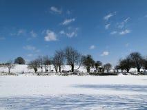 Escena rural de la nieve Foto de archivo