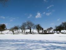 Escena rural de la nieve Imagen de archivo