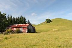 Escena rural de las tierras de labrantío foto de archivo