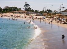 Escena soleada de la playa Imagenes de archivo