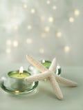 Escena suave del balneario con las luces apacibles Fotografía de archivo libre de regalías