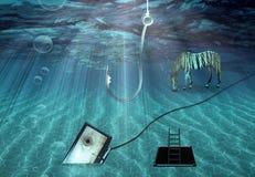 Escena subacuática de la fantasía Imagenes de archivo