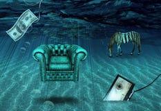 Escena subacuática de la fantasía Imágenes de archivo libres de regalías
